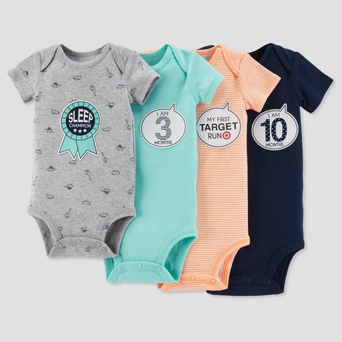 Baby Boys' Bodysuit and Sticker Pack Set - Just One You® made by carter's Teal 0-12M - image 1 of 1