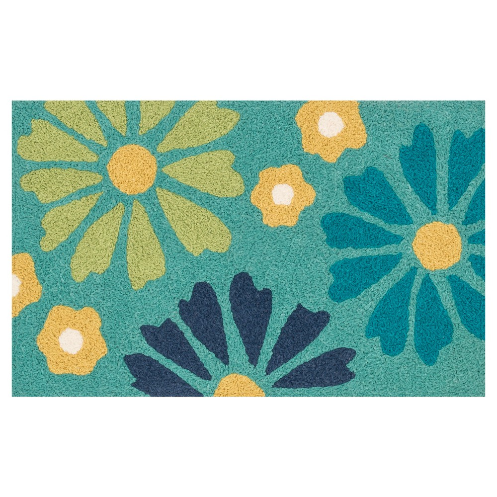 "Image of ""Loloi Angelou Accent Rug - Green (1'8""""X2'8"""")"""