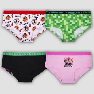 Girls' Minecraft 4pk Underwear