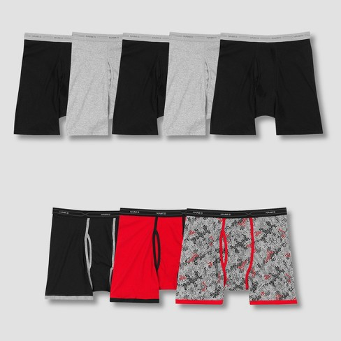 Hanes Men's P5 Comfort Soft WaistBand Boxer Briefs +3 Bonus Xtemp Boxer Briefs - Colors May Vary - image 1 of 2