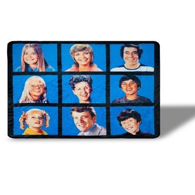 Just Funky The Brady Bunch Fleece Throw Blanket | 45 x 60 Inches