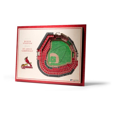 Mlb St Louis Cardinals 5 Layer Stadiumviews 3d Wall Art Target