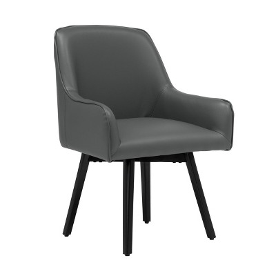 Spire Luxe Swivel Guest/Dining/Office Accent Chair with Arms Blended Leather - Studio Designs Home