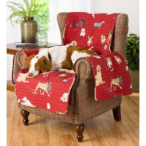 Remarkable Protective Pet Friendly Chair Cover With Non Slip Back Quilted Cotton Face Plow Hearth Short Links Chair Design For Home Short Linksinfo