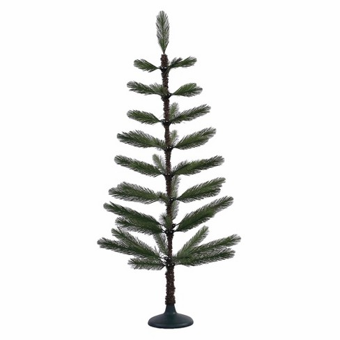 4ft Unlit Artificial Christmas Tree Slim Green Feather - image 1 of 2