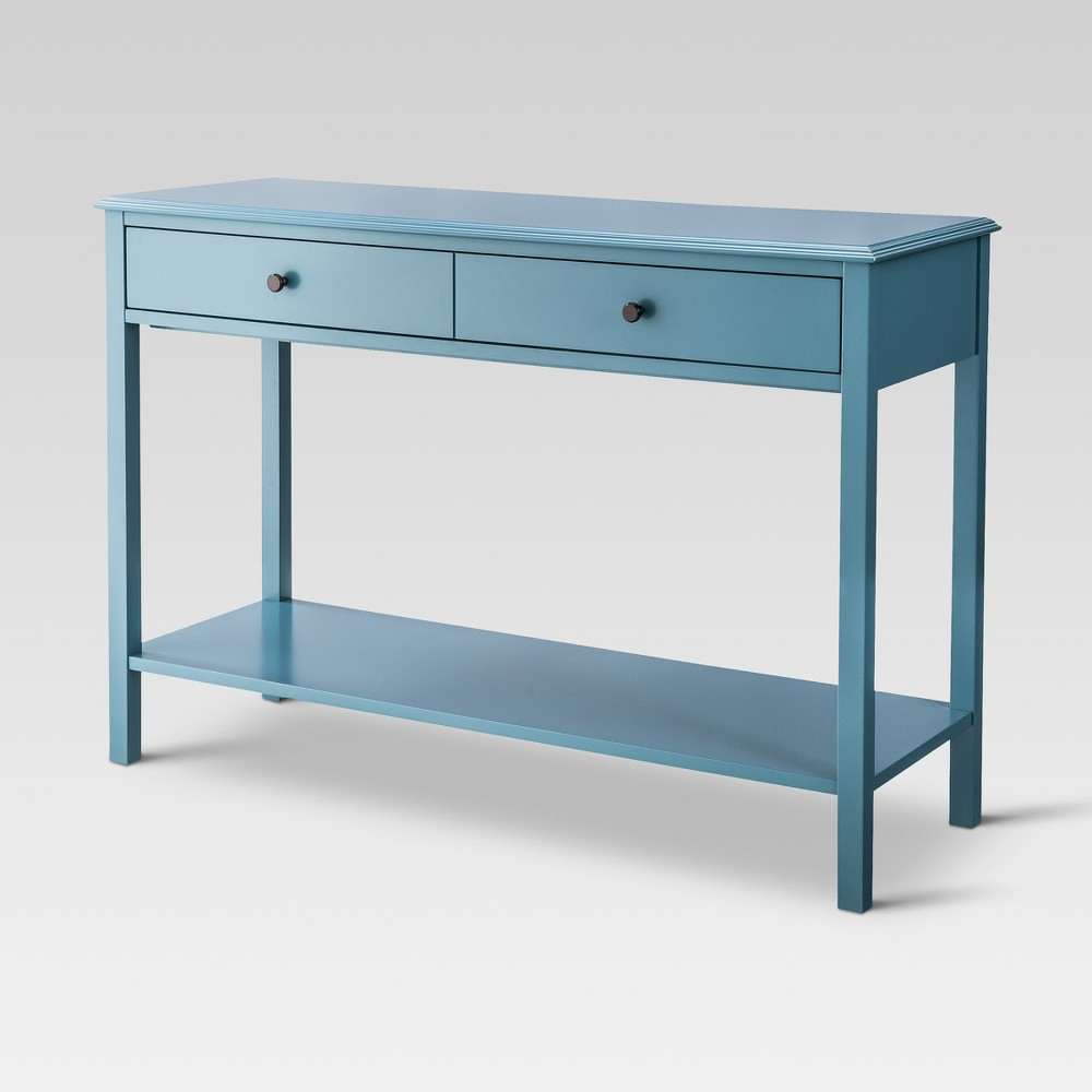 Windham Console Table Teal (Blue) - Threshold