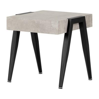 City Life End Table Concrete Gray/Black - South Shore