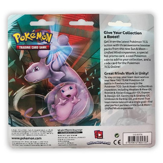 Pokémon Trading Card Game Sun & Moon S11 3 Pack Blister featuring Stakataka, Kids Unisex image number null