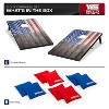Wild Sports 2 x 3 Foot Old Glory Stars and Stripes USA Flag Cornhole Toss Outdoor Bags MDF Wood Board Game Set with 8 Bean Bags (2 Pack) - image 2 of 4