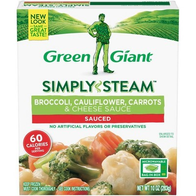 Green Giant Steamers Frozen Broccoli, Carrots, Cauliflower & Cheese Sauce - 10oz
