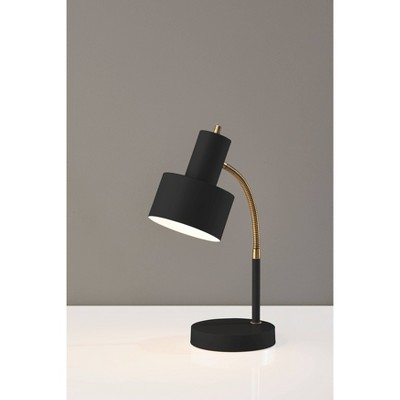 Stark Desk Lamp Antique Brass Black - Adesso