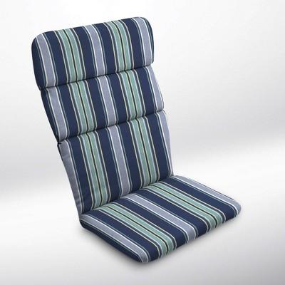 Aurora Stripe Adirondack Chair Cushion Sapphire - Arden Selections