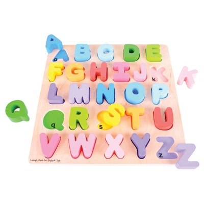 Bigjigs Toys Chunky Alphabet Puzzle Wooden Educational Toy