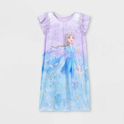 Girls' Frozen Elsa Be Unique Dorm NightGown - Purple