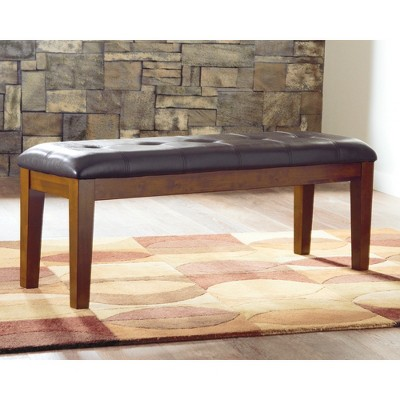 Ralene Large Upholstered Dining Room Bench Wood/Medium Brown   Signature  Design By Ashley : Target