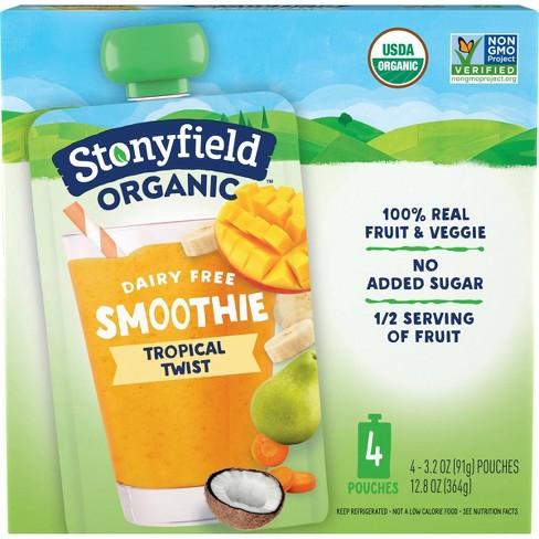 Stonyfield Fruit & Veg Tropical Twist Kids' Yogurt - 4pk/3.2oz Pouches - image 1 of 4