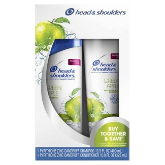 Head And Shoulders Green Apple Daily-Use Anti-Dandruff Paraben-Free Shampoo And Conditioner Bundle Pack : Target