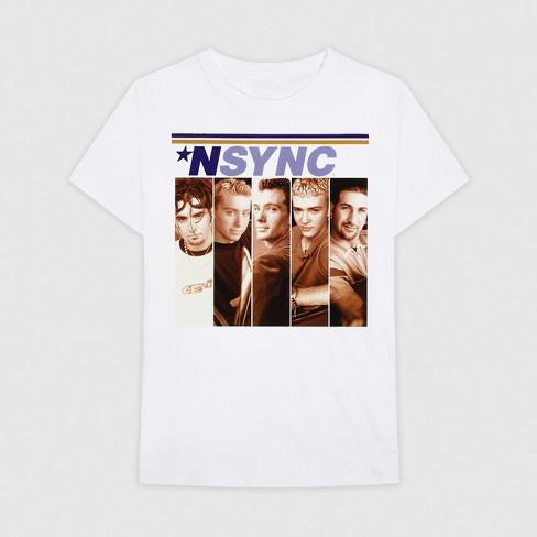aa073b34b7e Men s Nsync Short Sleeve Graphic T-Shirt - White   Target