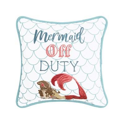 "C&F Home 10"" x 10"" Mermaid Off Duty Pillow"