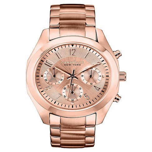Caravelle New York by Bulova Women's Chronograph Rose Gold-Tone Stainless Steel Bracelet Watch - 44L115 - image 1 of 1