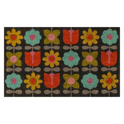 1'6 x2'6  Floral Woven Door Mat - Novogratz By Momeni