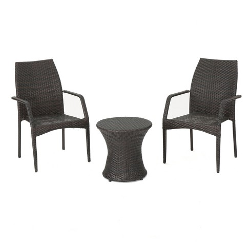 Crawford 3pc Wicker Chat Set - Multibrown - Christopher Knight Home - image 1 of 4
