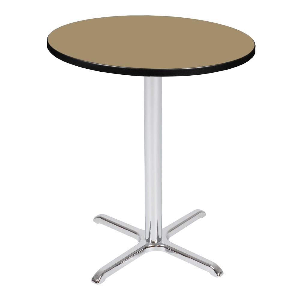 36 Via Cafe High Round X - Base Table Gold/Chrome (Gold/Grey) - Regency