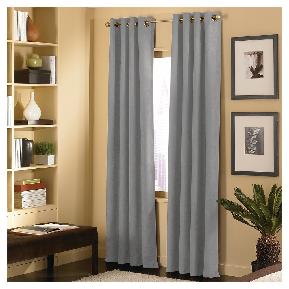Image of Curtainworks Cameron Curtain Panel - Pewter (Silver) (108)