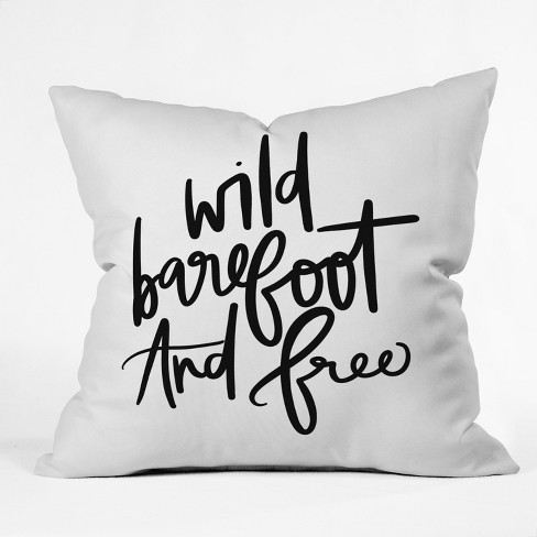 "18""x18"" Chelcey Tate Wild Barefoot And Free Throw Pillow Green - Deny Designs - image 1 of 1"