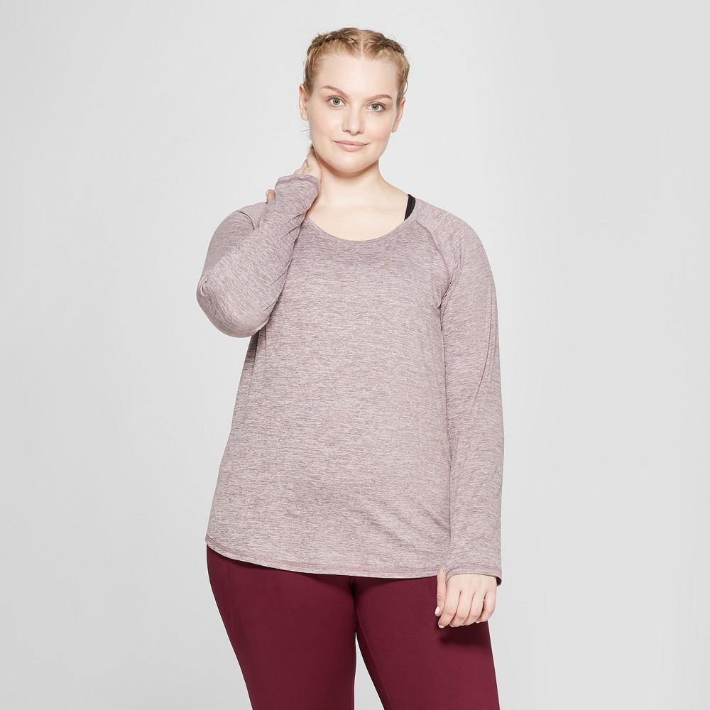 Women's Plus Size Long Sleeve Soft T-Shirt- C9 Champion Purple Heather 4X