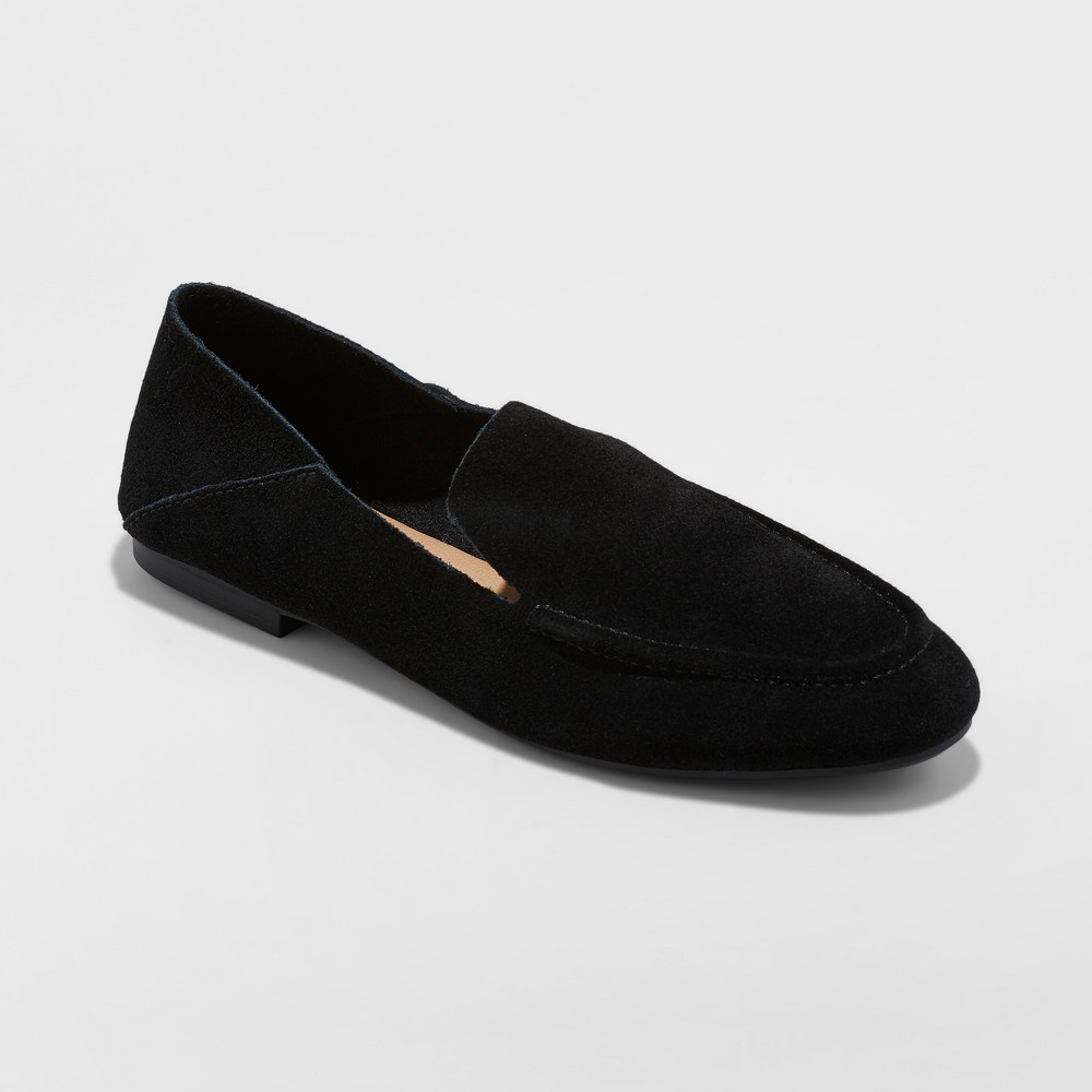 Women's Jisela Collapsible Back Loafers - A New Day Black 12