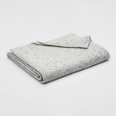 Twin Marled Chenille Blanket Light Gray - Threshold™