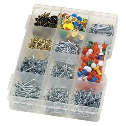 Liberty 100pc Nail/Tack/Brad Hardware Fastner Sets