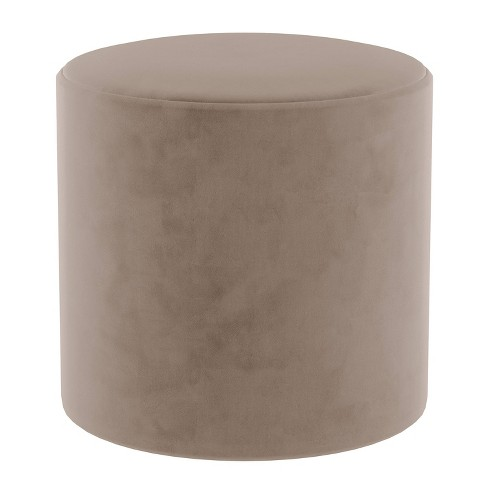 Brilliant Round Ottoman In Velvet Cocoa Brown Project 62 Caraccident5 Cool Chair Designs And Ideas Caraccident5Info