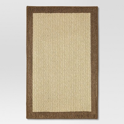 Madison Border Washable Accent Rug Tan 20 x30  - Threshold™