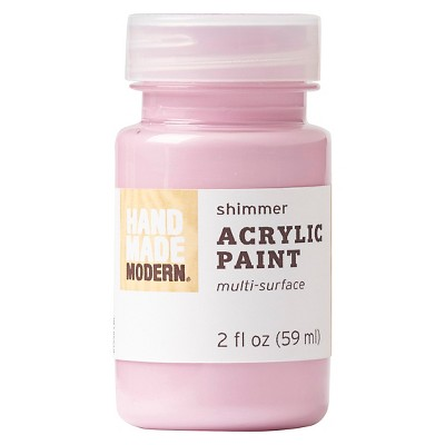 Hand Made Modern - 2oz Shimmer Acrylic Paint - Rose