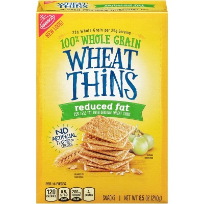 Wheat Thins Reduced Fat Snack Crackers - 8.5oz