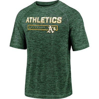 MLB Oakland Athletics Men's Short Sleeve Striated Athleisure T-Shirt