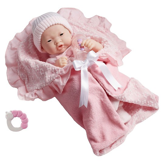 """JC Toys La Newborn 15.5"""" Doll - Pink Outfit Set image number null"""