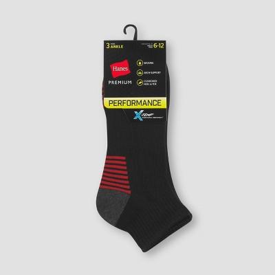 Men's Hanes Premium Performance Ankle Socks 3pk - Colors May Vary 6-12