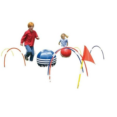 HearthSong Oversized Kick Croquet Outdoor Game for Kids