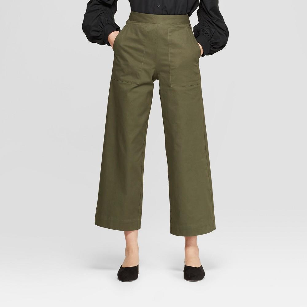 Women's Wide Leg Crop Pants - Prologue Olive (Green) 4