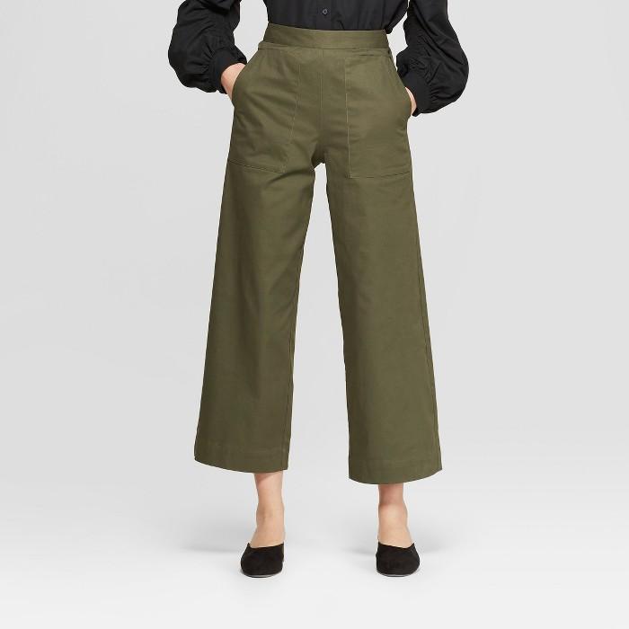 Women's Mid-Rise Wide Leg Ankle Length Pants - Prologue™ - image 1 of 3