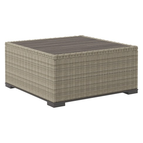 Silent Brook Square Cocktail Table - Beige  - Outdoor by Ashley - image 1 of 4