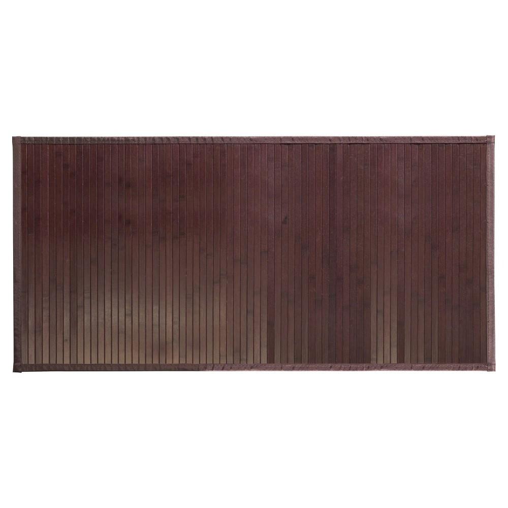 Image of Formbu Solid Bath Mat (L) Mocha - iDESIGN, Brown