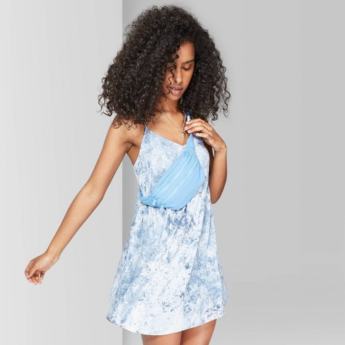 Women's Strappy V-Neck Printed Babydoll Dress - Wild Fable™ - image 1 of 7