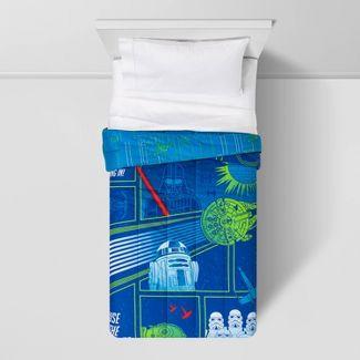 Star Wars Reversible Glow-in-the-Dark Full Comforter Blue