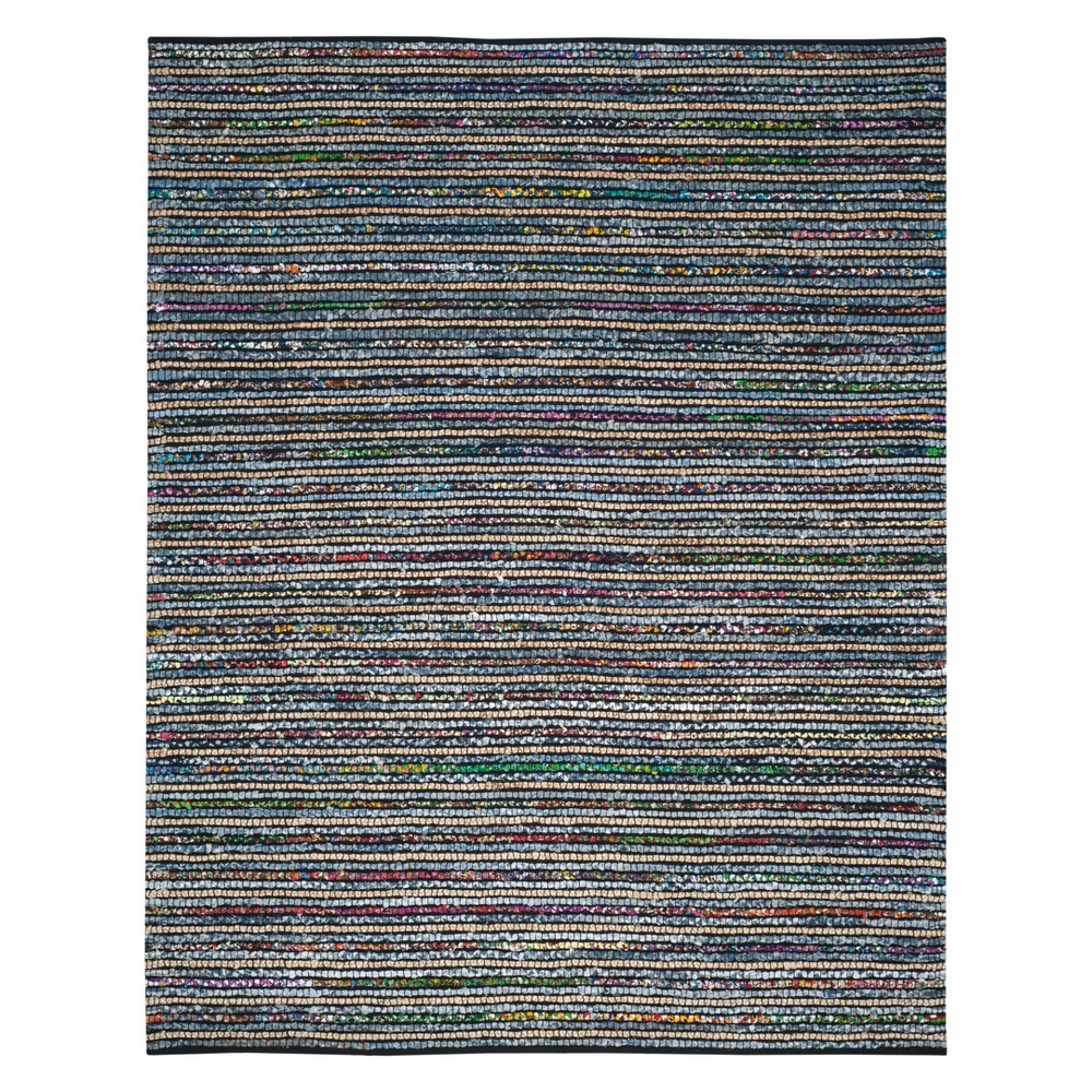 8'X10' Stripe Area Rug Natural - Safavieh, Multicolored