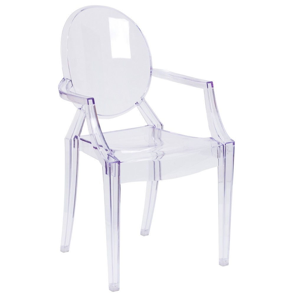 Riverstone Furniture Collection Leather Stacking Side Chair Clear