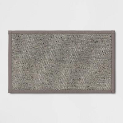 "34"" x 20"" Textured Pet Kitchen Rug Gray - Threshold™"